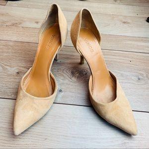 Vince | Brown Suede Leather Heels | 9.5